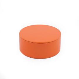 Rond blik oranje