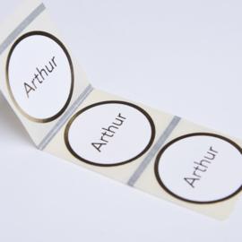 Sticker rond foliedruk