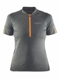 Craft Fietskleding Wieler Shirt Velo Jersey 1903981 Grijs/Oranje DAMES