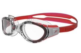 Speedo Zwembril Futura Biofuse Flexiseal Transparant Rood