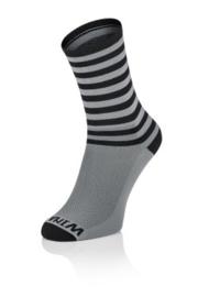 Winaar Fiets Sokken GB Stripes |   Grijs/Zwart met Strepen