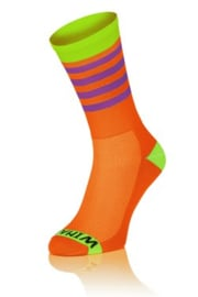 Winaar Fiets Sokken OGV | Oranje groen met paarse strepen