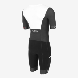 Fusion Sli Speed Suit Zwart/Wit Unisex