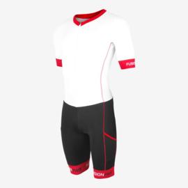 Fusion Trisuit Speedsuit White Red Unisex