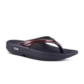 Oofos Recovery Slippers Oolala Black Cabernet | Dames