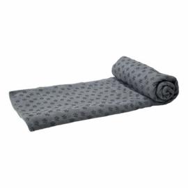Tunturi Fitness Yoga Handdoek Grijs | Anti Slip aan onderkant