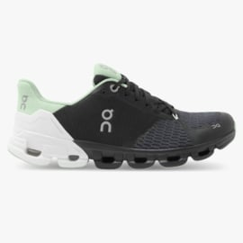 On Hardloopschoenen Cloud Flyer Black White Green | DAMES