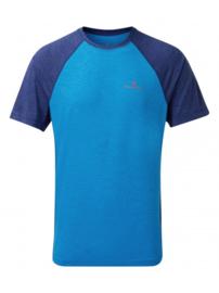 RonHill Momentum Shirt Elec. Blue /Blue Marl 003980-00661 HEREN