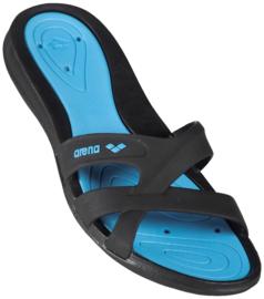 Arena Athena Dames Slipper Zwart/Blauw