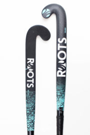 Roots Hockeystick DNA Serie Mid Bow 70% Carbon | Zwart Groen