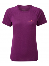 RonHill Stride Tee 1 004774-00298 Grape Juice Marl DAMES