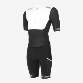 Fusion Sli Speed Suit Zwart/Wit Unisex