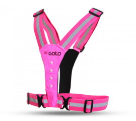 Led Running Vest Roze Gato Sports | USB Oplaadbaar