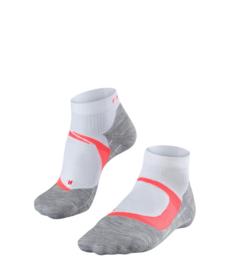Falke Running Sok RU4 Cool Short 16749-2028 | White Neon Red