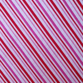 Roze - Rode diagonale streep