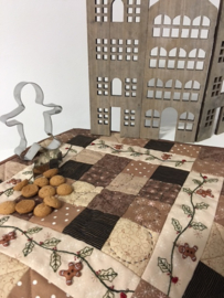 Gingerbread quiltje met knopen