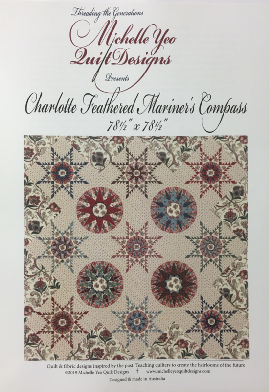 Charlotte's Feathered Mariner's Compass by Michelle Yeo