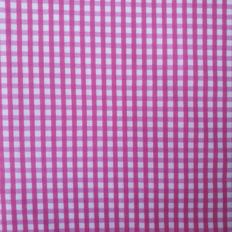 Roze - Wit ruitje