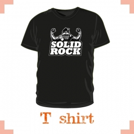T-Shirt heren - highlandgames solid rock