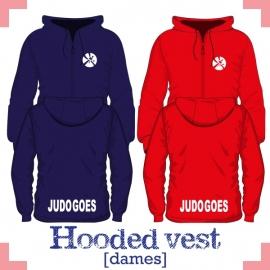 Hooded vest dames - JudoGoes