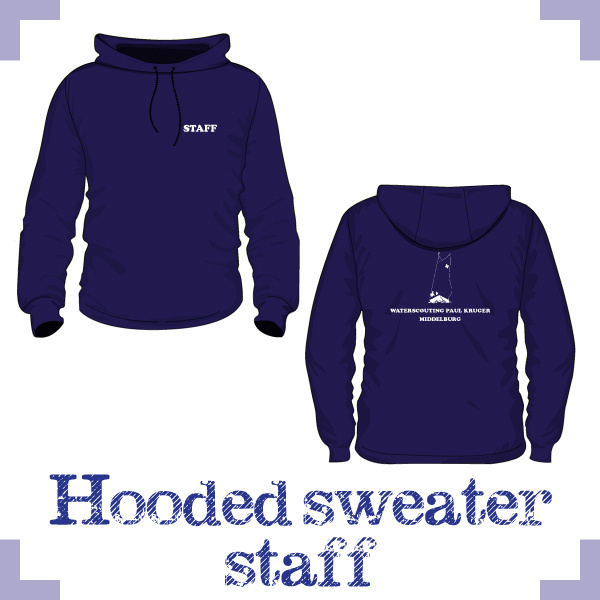 Hooded Sweater uni STAFF - Waterscouting Paul Kruger