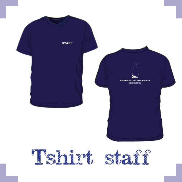 T-Shirt uni STAFF- Waterscouting Paul Kruger