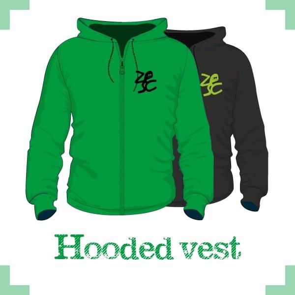 Hooded vest uni - Zesc