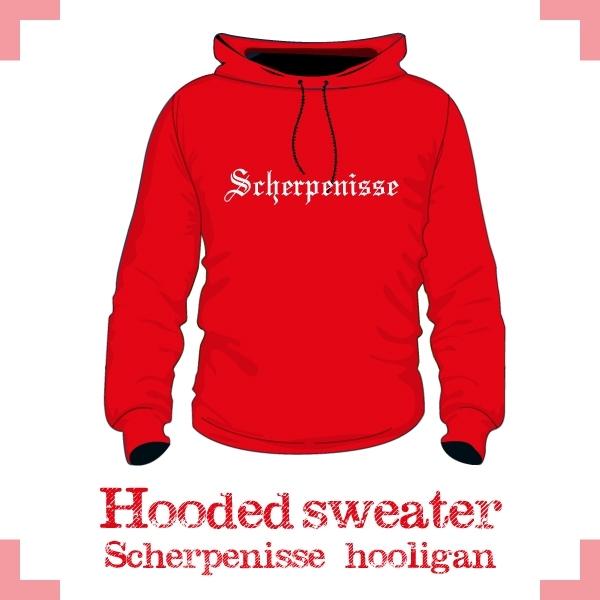 Hooded Sweater - Scherpenisse hooligan