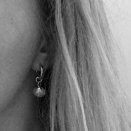 Earrings - Sealife hartschelp zilver
