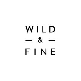 WILD & FINE ketting verguld | hanger zwart zilver