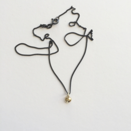 Necklace - Apple of my eye gold/black