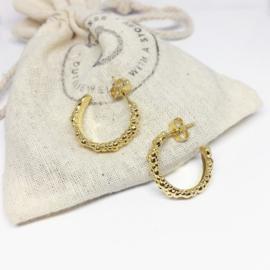 Earrings - branding gold