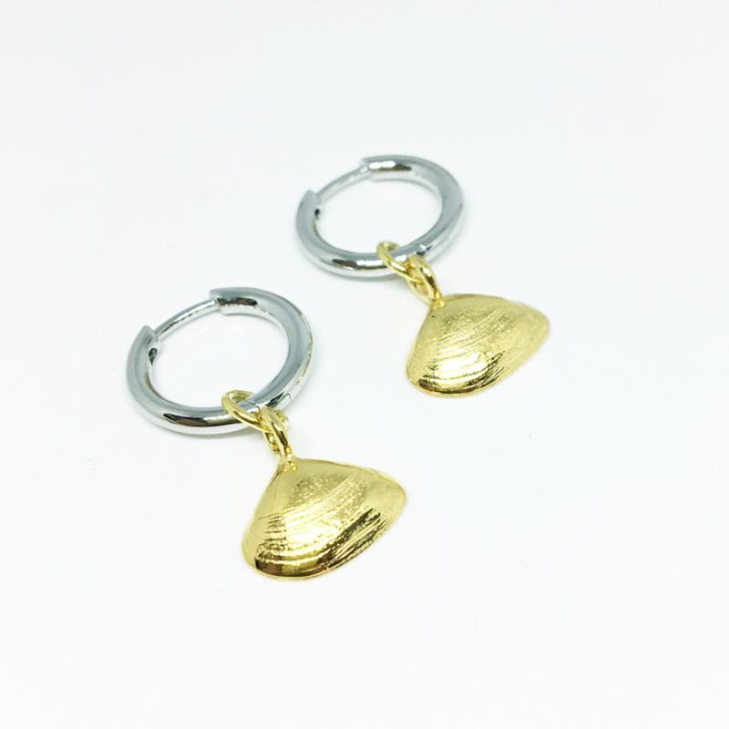 Earrings - Sealife nonnetje verguld