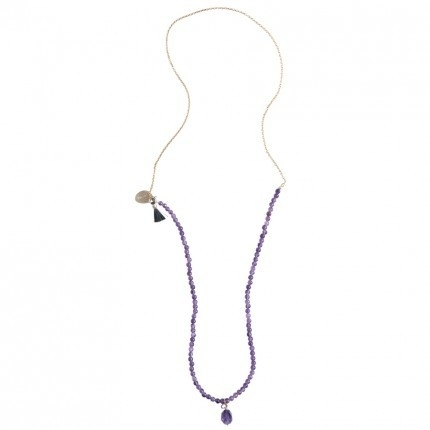 A Beautiful Story ketting, Gem amethyst