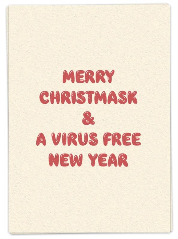 Virus free year - kaartje
