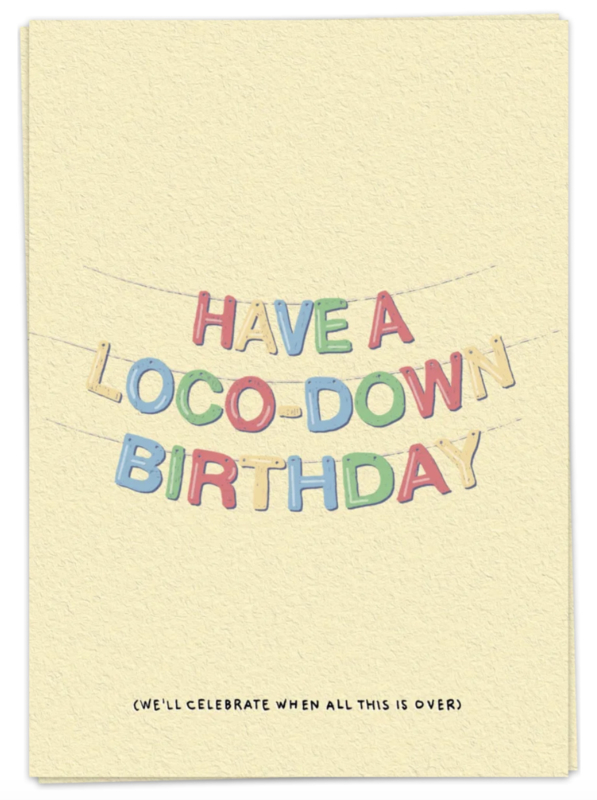 Loco-down birthday - kaartje