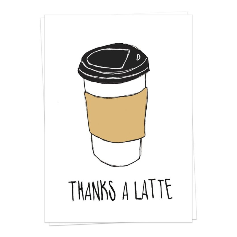 thanks a latte - kaartje