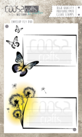 COOSA Crafts clear stamps #4 - Envelope Fly Duo A6 - 2pcs