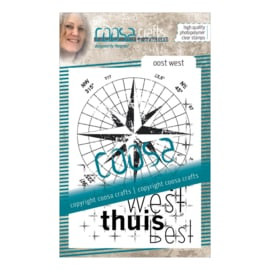 COOSA Crafts clear stamp #08 - Dutch - Oost-West (NE) A7