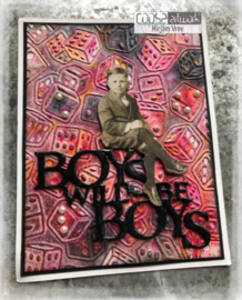 COOSA Crafts Cutting Die - Mooi voor Mannen - Boys will be Boys - by Margreet