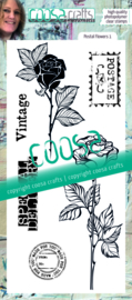 COOSA Crafts Clear Stamps #22 - Postal Flowers 1