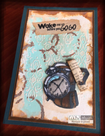 COOSA Crafts clear stamp #11 - Fusion - Wake Me Up A7