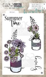 COOSA Crafts clear stamp #07 - Vase 1 A6