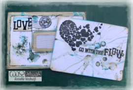 COOSA Crafts clear stamp #15 - Word on background - Love Flow A6