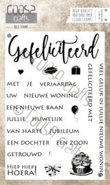 COOSA Crafts clear stamp #01 - Dutch - Gefeliciteerd A6 - 20-delig (NL)