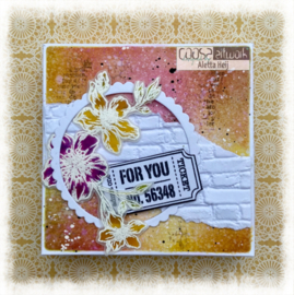 COOSA Crafts Clear Stamps #22 - Postal Flowers 2