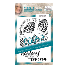 COOSA Crafts clear stamp #08 - Dutch - Achteraf (NE) A7