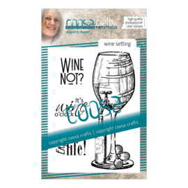 COOSA Crafts clear stamp #09 - Fusion - Wine Setting (EN) A7