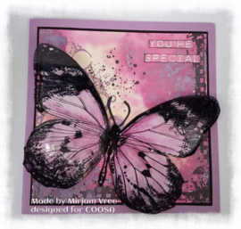 IndigoBlu Mounted A6 Rubber Stamp - Big Butterfly