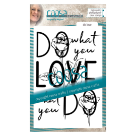 COOSA Crafts clear stamp #02 - Quote - Do Love A6